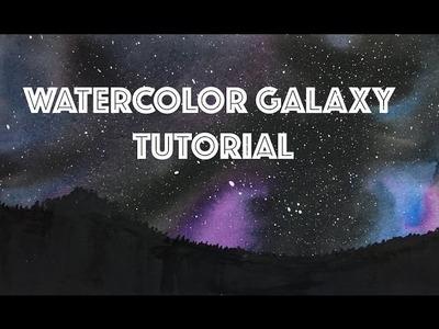 Watercolor Galaxy Tutorial (night sky)