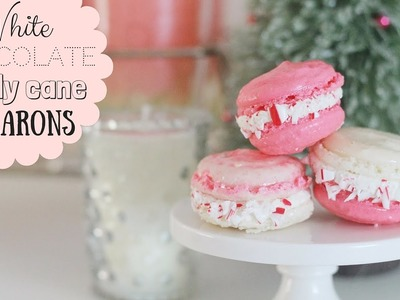 White Chocolate Candy Cane FRENCH MACARON RECIPE