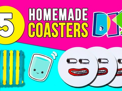 5 easy DIY COASTERS ????How to make homemade RECYCLED COASTERS for HOME DECOR ♻️