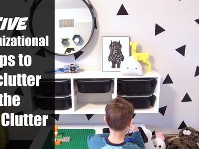 5 KIDS Organizational Tips to Declutter the Kid Clutter | Organizing DIY + Decor Challenge