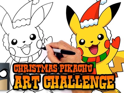 ART CHALLENGE!!! Christmas Pikachu Video