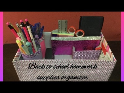 Back to school Craft supplies.homework supplies organizer | how to make | crafts and more