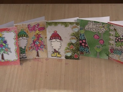 Christmas Cards With Dylusions Holiday Coloring Sheets by Joggles.com