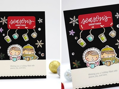 Christmas Coffee Friends with Zig Markers by Pretty Pink Posh