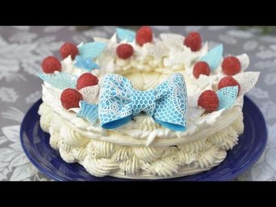 CHRISTMAS MERINGUE WREATH CAKE WITH SUGARVEIL, HANIELA'S
