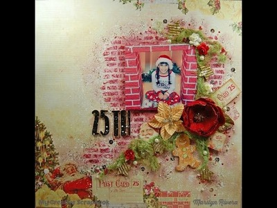 Christmas Mixed Media Scrapbooking Layout-My Creative Scrapbook