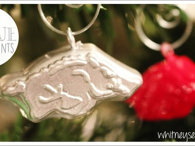 Christmas Ornaments from Hot Glue | Holiday How to | Whitney Sews