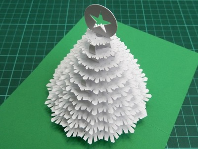 Christmas Tree Pop Up Card Tutorial - 02  (Part 2)