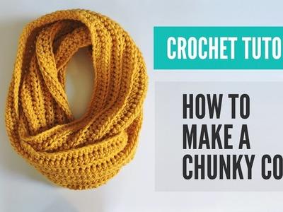 Crochet Chunky Cowl Pattern, Crochet Cowl Pattern, Crochet Scarf Pattern Tutorial