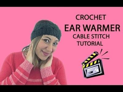 Crochet Ear Warmer Tutorial (Cable Stitch)
