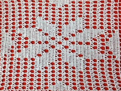 Crochet Filet Flower Place Mat Part 1