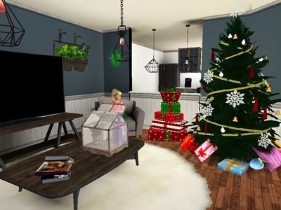 Decorating the Sims 3 American Girl Doll House for Christmas!