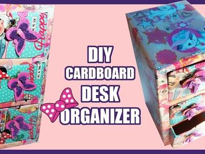 DIY Cardboard Desk Organizer Drawers | Cardboard Box Recycle Ideas 2016