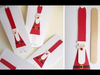 DIY Christmas Ornaments - How To Make Simple Santa Claus Using Popsicle Sticks