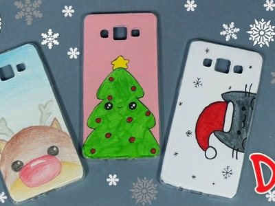 ???? DIY ???? Christmas phone case! 3 EASY DESIGNS YOU HAVE TO TRY!