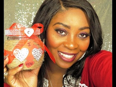 DIY-Dollar Tree Easy Valentines Day Gift Jar