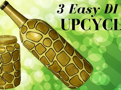 DIY Glass Jar Upcycle Three Designs Cute And Easy! Part 3