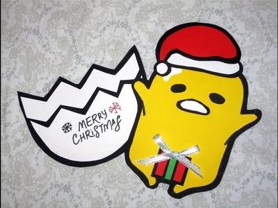 DIY Gudetama Christmas Card