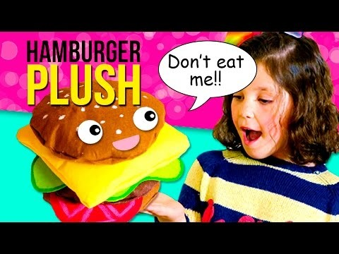 DIY HAMBURGER plush ???? How to make a HAMBURGER PILLOW ????