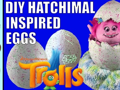 DIY Hatchimals Inspired Egg Tutorial | Cursing Hatchimal - NOT!  | Where Do Trolls Come From?