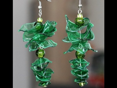 DIY - Recycled Plastic Bottle Earrings