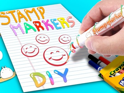 DIY STAMP MARKERS !!!!. How to make cool stamps using markers ?!?!