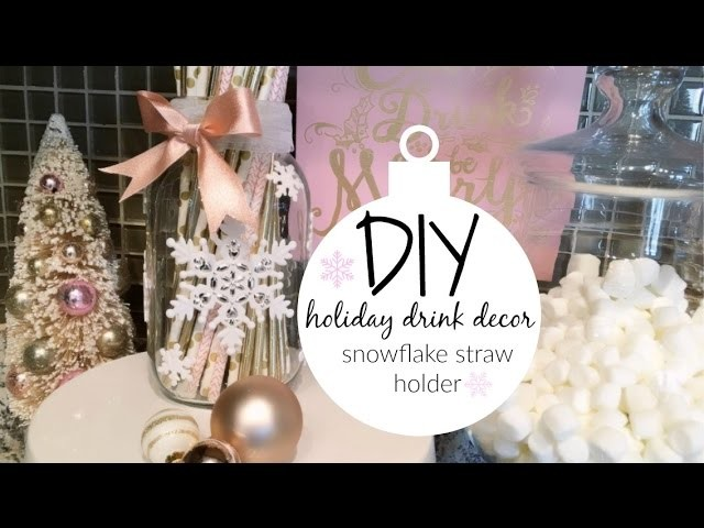 DIY Straw Holder for Holiday Drink Station