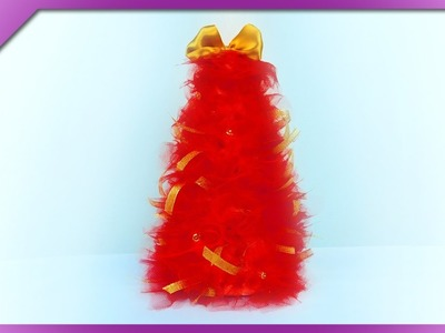 DIY Tulle Christmas tree (ENG Subtitles) - Speed up #293