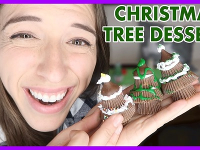 Easy Christmas Tree Dessert!