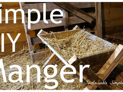 Easy DIY Manger - Great for nativity scenes