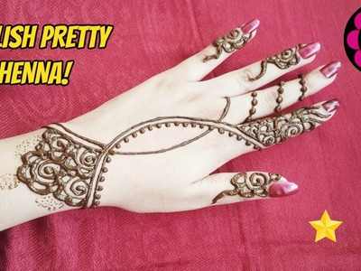 Easy Henna DIY - Simple and Stylish Mehendi Design - Quick and Beautiful Mehendi for Beginners