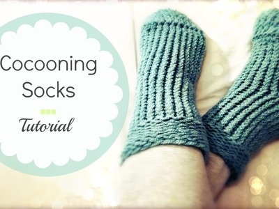 Easy knitted socks on round loom