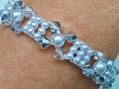 Elegant Beads Bracelet. DIY Jewelry making for beginners