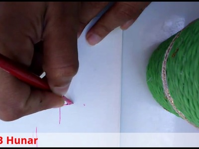 Fabric Painting-How To Make Simple Flower With Straight Strokes
