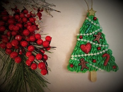 Faux Frosted Christmas Tree Ornaments ~ Featuring Miriam Joy