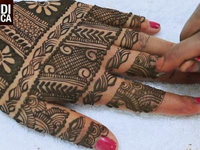 Full Hand Belt Style Beautiful Mehndi Designs For Hands:Tradional Mahndi Tutorial|MehndiArtistica
