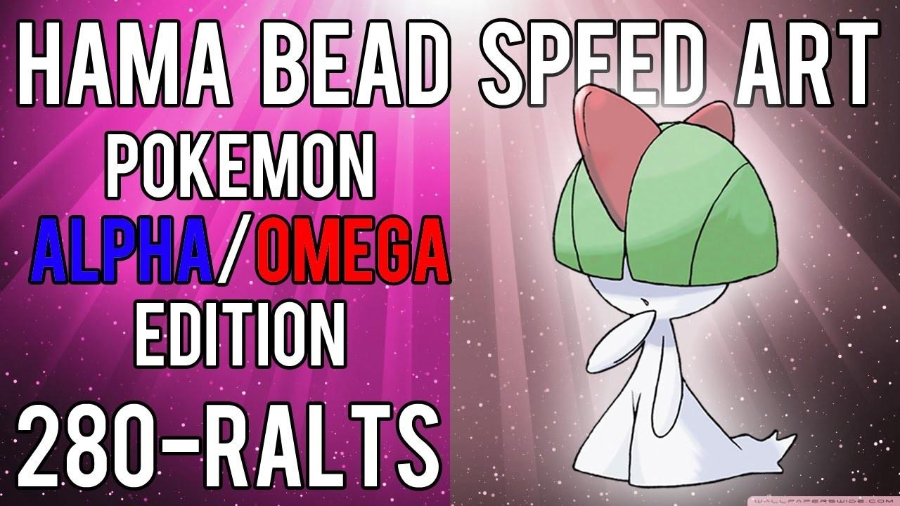 Hama Bead Speed Art   Pokemon   Alpha.Omega   Timelapse   280 - Ralts