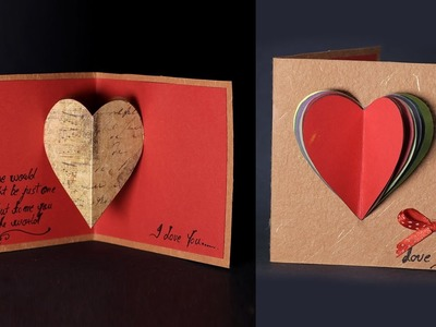 Happy Valentine's Day Card - Pop Up Heart Card Tutorial with Love Message