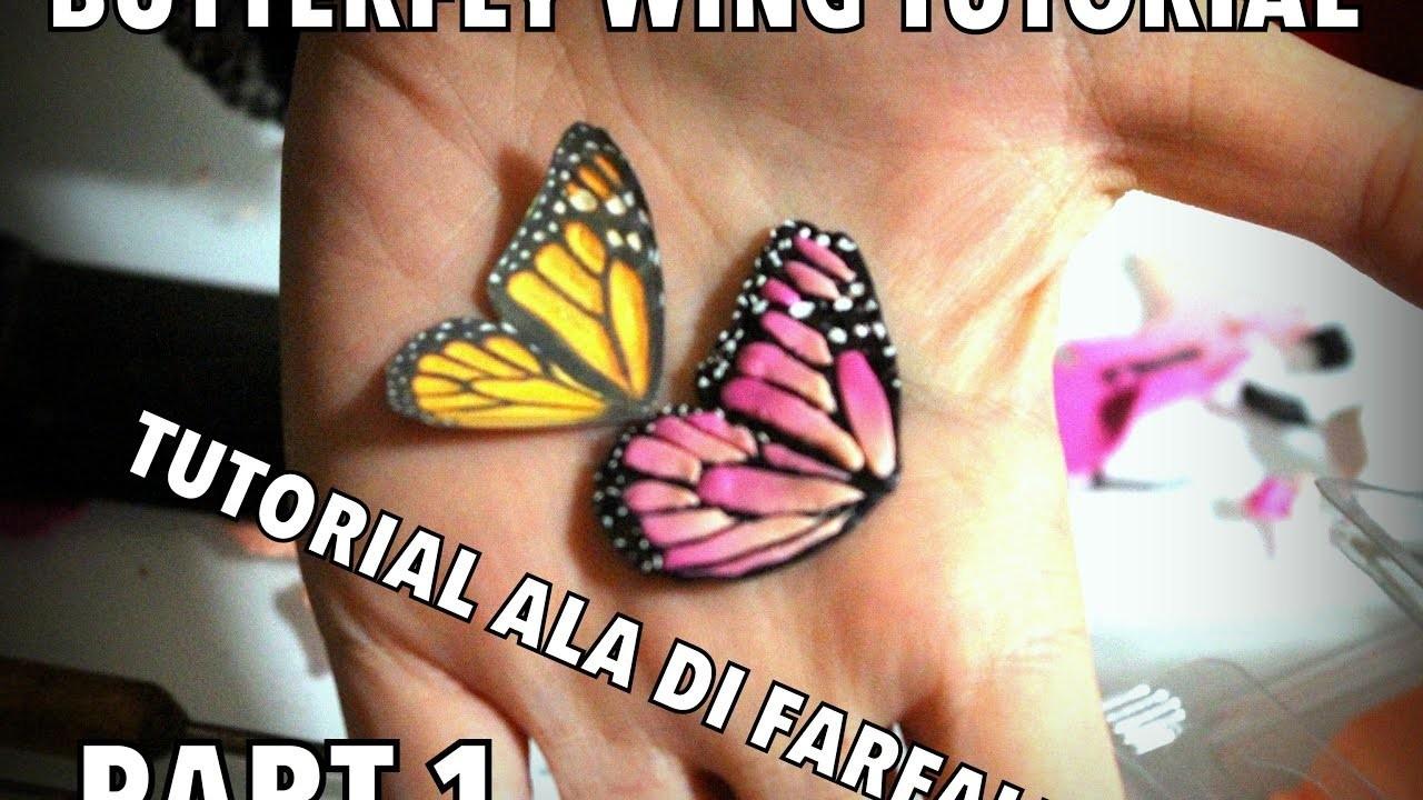 HOW MAKE EASY FAIRY WINGS  BUTTERFLY CLAY TUTORIAL EP 1- Come fare Ala di Farfalla parte 1
