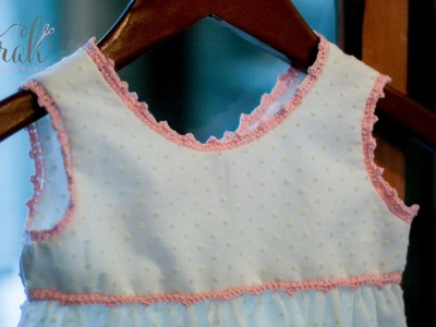 How to add crochet lace edging to a finished sewing garment