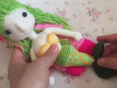 How to crochet Mermaid เงือกน้อย part 1