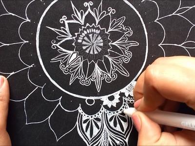 How to draw a mandala | Tropical design