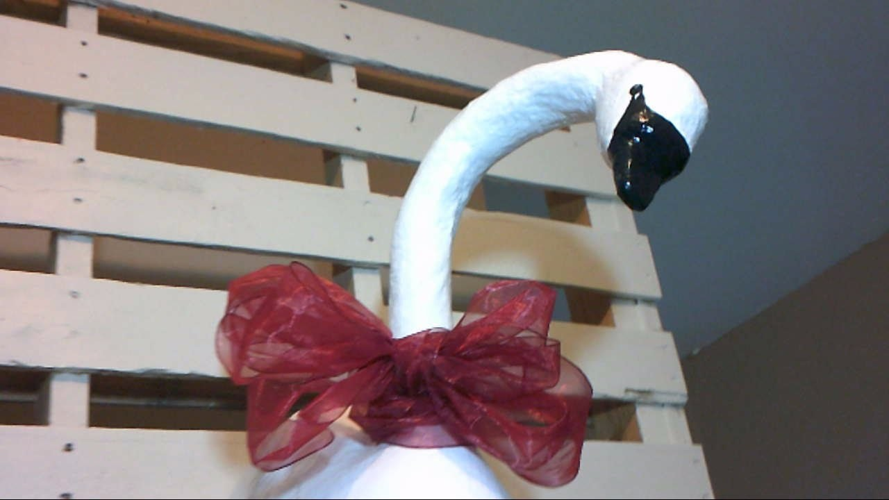 How to Make a Beautiful Swan from Recycables