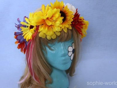 How to Make a Flower Headband from Silk Flowers | Sophie's World