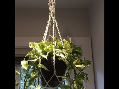 How to make a macrame hanger - step by step tutorial