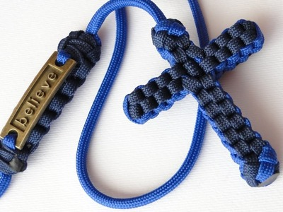 How to Make a Paracord Cross.Necklace-Bonus Tutorial: How to install a Charm by CreationsByS