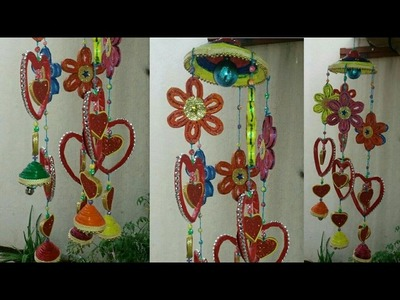 How to make DIY: Wind chime with newspaper(38)