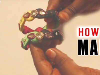 How to make kids bangles with silk thread free tutorials || latest thed bangle works