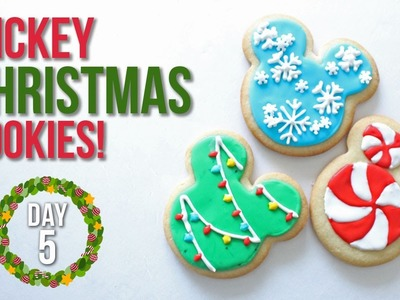 How to Make Mickey Mouse Christmas Cookies! | 25 Days of Christmas: Day 5