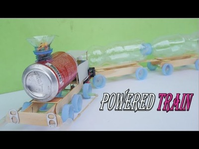 How To Make Powered Train ( DIY ) - Electric Train Very Easy At Home